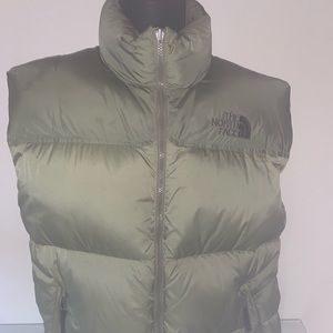 The North Face Army Green Puffer Vest